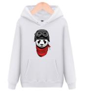Flying Panda Men's Round Neck Hooded Hooded Sweatshirt