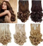 Wig, Euramerican popular ladies 18 card 8 piece long roll, big wave, no trace hair receiving.