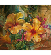 DIY Painting By Numbers Beautiful Yellow Flower Paint By Numbers Acrylic Paint On Canvas picture drawing coloring canvas