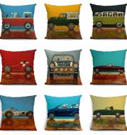 Wang star happy cartoon dog pillow set cotton pillow car with high quality cotton pillow cushion covers