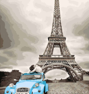 40*50cm Paris Eiffel Tower Modular Picture tiger Painting By Numbers on Canvas DIY coloring drawing by numbers on the wall