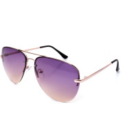 Multicolored reflective sunglasses, sunglasses, metal toads, men and women with the same sunglasses, retro spectacles