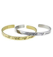 """""""It Is Well With My Soul"""" Gold & Silver Bracelet"""