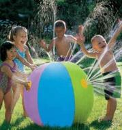 nflatable Spray Water Ball Childrens Summer Outdoor Swimming Beach Pool Play The Lawn Balls Playing Smash Funny Toy