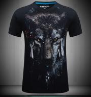 3D Wolf Design Tshirt