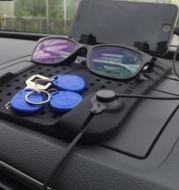 Car navigation bracket Car phone holder Magnetic USB charger Multifunctional silicone mat