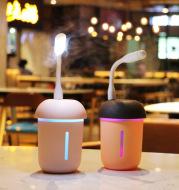 USB charging household air purifier multifunctional water replenishing instrument fan, night light three in one mushroom humidifier