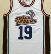 NBA jersey movie version Bad boy 72th yellow Little devil 19th white0 black basketball uniform