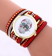 Korean velvet bracelet on the new speed to sell foreign trade explosion models ladies skull pattern watch