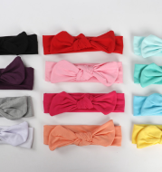 Pure cotton hair ribbon baby pure young children bowknot with hair accessories