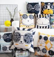 Nordic cartoon cutethick cotton pillow pillow window pillowcase office car cushion creative