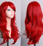 AliExpress best selling cos long scroll anime cosplay color Europe and America wig foreign trade gold models factory direct