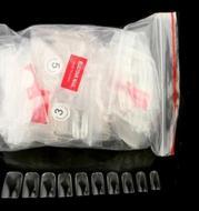 Manicure Korean standard nail nail piece finished transparent natural full paste half stick nail clip 10 models