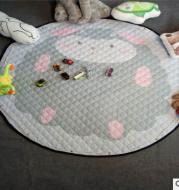 Explosion models Ins cotton car storage mat storage toy mats Round outing children climbing mat storage bag