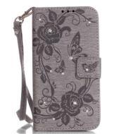 Apple stick embossed butterfly iphone7 mobile phone case Samsung s7 card flip phone case