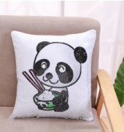 EBay aliexpress cross-border selling two-color printing, sequins beads sofa cushion cover decorative pillow style