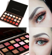 18 color eye shadow plate earth color sunset disks