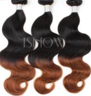 Brazil hair curtain real wig hair curtain European and American fashion wig 1B/4body wave AliExpress one generation