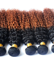 AliExpress source of real hair curtain Brazilian hair wig a generation of hair 1B/30 gradient Ombre