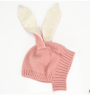 Baby Bunny Ear Knit Hat 6-18 months