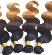 Europe and the United States sell three color gradient real wig hair curtain hair hair curtain 1b/4/27ombre hair weft