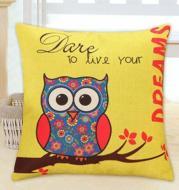 Lovely Owl Cushion Cover Polyester&Linen