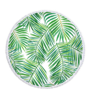 Palm Leaf Round Beach Towel Forest Palm Leaf Beach Towel Shawl Cushion Microfiber