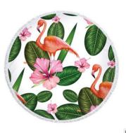 Flamingo round beach towel flamingo beach towel microfiber bath towel