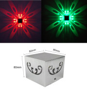 Square butterfly wall lamp aluminum creative light effect lamp bar ktv atmosphere lamp background wall decoration