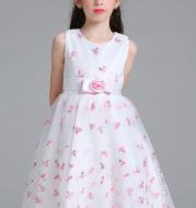 Children dress flower wedding dress Princess Dress embroidered dress fairy thorn children Eugen yarn T