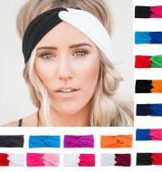 Turban headband women twist elastic headband head band sport yoga headband headdress headwrap girls hair accessories