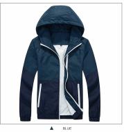 2021 men's jacket spring and autumn thin hooded couple fashion windbreaker AliExpress Amazon explosion men's jacket