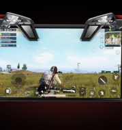 Fasion cool design Mobile Game Fire Button Aim Key Smart phone Mobile Game Trigger L1R1 Shooter Controller for PUBG