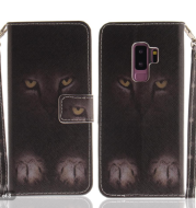 Huawei P8lite 2021 mystery cat PU leather case European and American card holder leather case