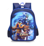 Wholesale foreign trade primary school schoolbag new Korean cartoon cartoon 3D King glorified children's shoulders