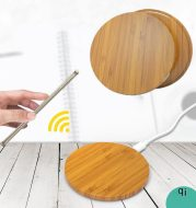 New Round Wood Bamboo Qi Wireless Charger Charging Pad Mat For iPhone 8 Plus X Samsung Galaxy S6/S6 Edge For Nexus 4 5 6