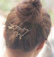 Metal hollow KT cat hairpin alloy frog clip hairpin clip hair accessories