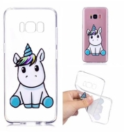 Case Cover for Samsung Galaxy S8 Transparent Pattern Back Unicorn Soft TPU