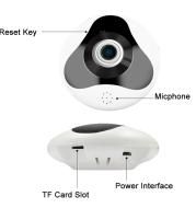 Wireless Panoramic Camera 960P Fisheye IP Camera WiFi Home Security IR Motion Sensor Two Way Audio 360 Degree Full View