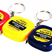1M Mini Measuring Tape With Key Buckle Portable Random Color Hand Tools With Centimeter And Inch Scale