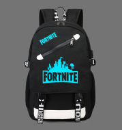 Fortnite Game Fortress Night Lens Backpack Student Bag Casual Bag USB Bag