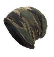 Autumn and winter new camouflage plus velvet cap
