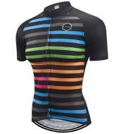 Short Sleeve Cycling Jersey - Stripes