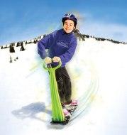Ski outdoor adult children snowboard folding portable ski