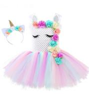 Flower dress children's dress unicorn princess dress