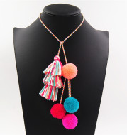 Colored hairball tassel bag accessories