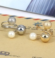 Metal ball multi-ring adjustable ring