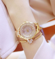 Watch factory direct foreign trade high-end linked list custom full diamond female watch