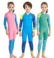 Children's quick-drying diving suit girls boys conjoined long-sleeved snorkeling suit swimwear size children's swimwear sunscreen swimsuit