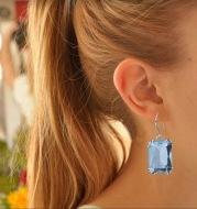Zircon multicolor earrings vintage classic style